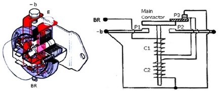 battery relay negatif 3 terminal