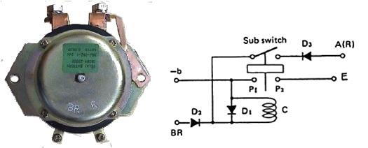 battery relay negatif 4 terminal