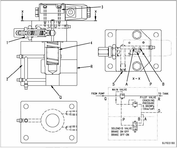 brake cooling valve HD 785-7