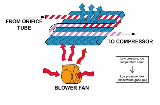 evaporatoe dan blower fan