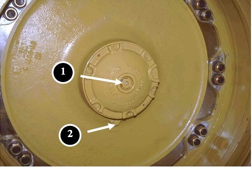 front wheel inspection plug 777D