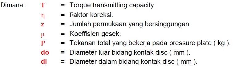 rumus torque capacity