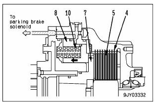 rear brake 6