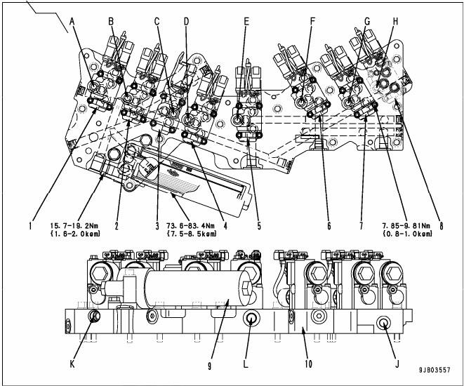 transmission control valve hd 785-7