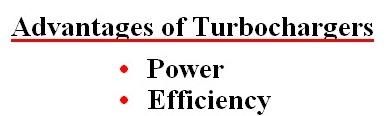 advantages of turbocharger