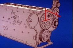 front gear train lubrication 2