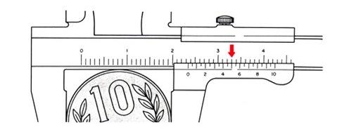 mengukur diameter luar jangka sorong