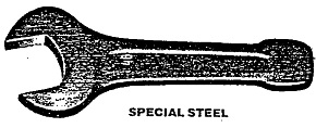 open end wrench sledge hammer