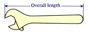 ukuran adjustable wrench
